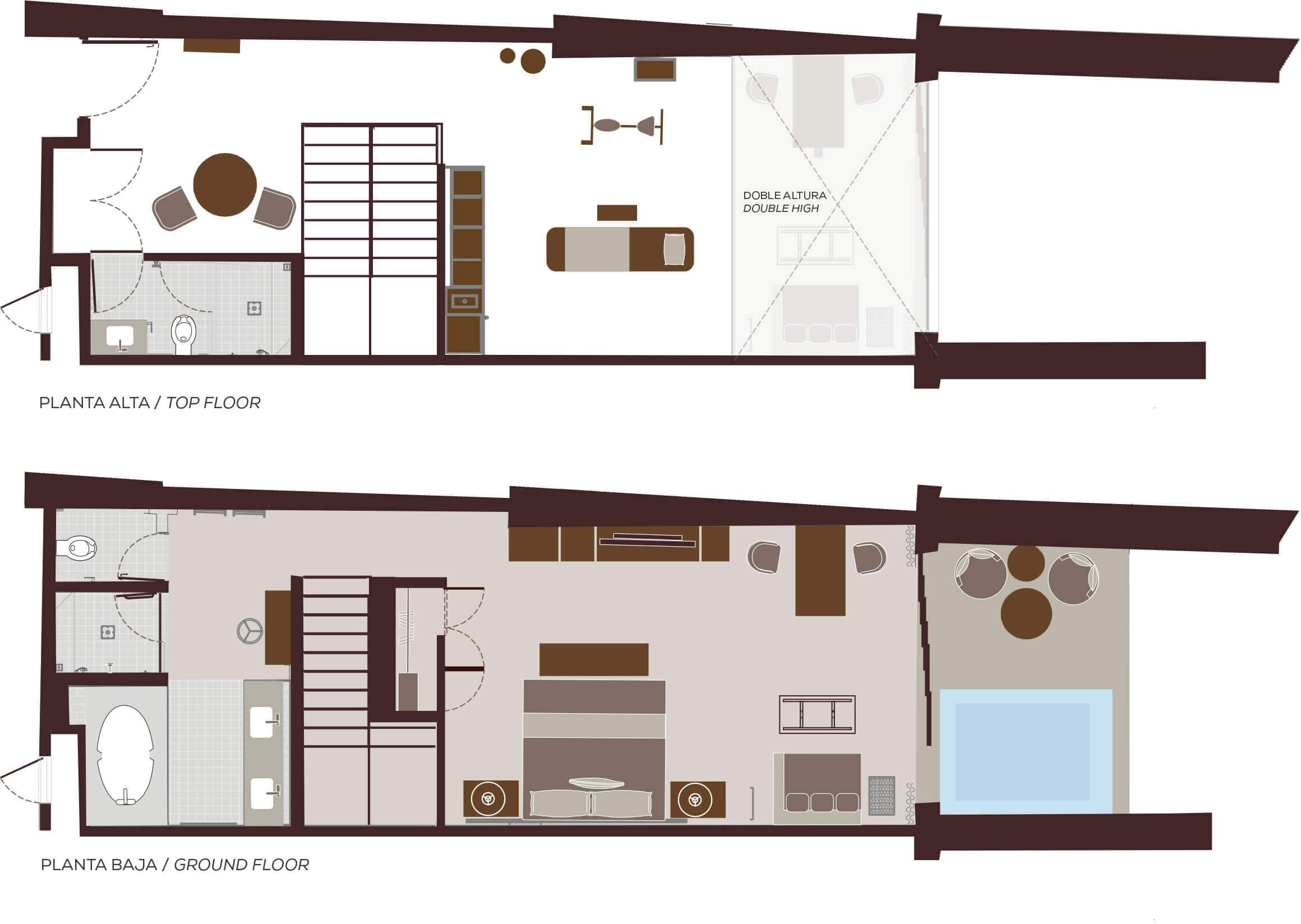Wellness Suites in Playa del Carmen Floorplan | Velas Wellnessing